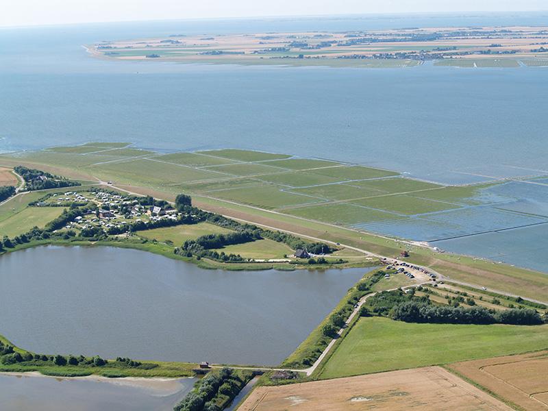 Nordsee, Luftaufnahme, Simonsberg, Nordseecamping zum Seehund