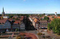 Emden, Luftaufnahme, Innenstadt