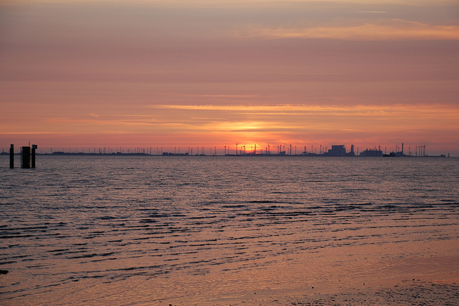 Emden, Sonnenuntergang