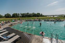 Camping Badeurlaub, unser Schwimmteich