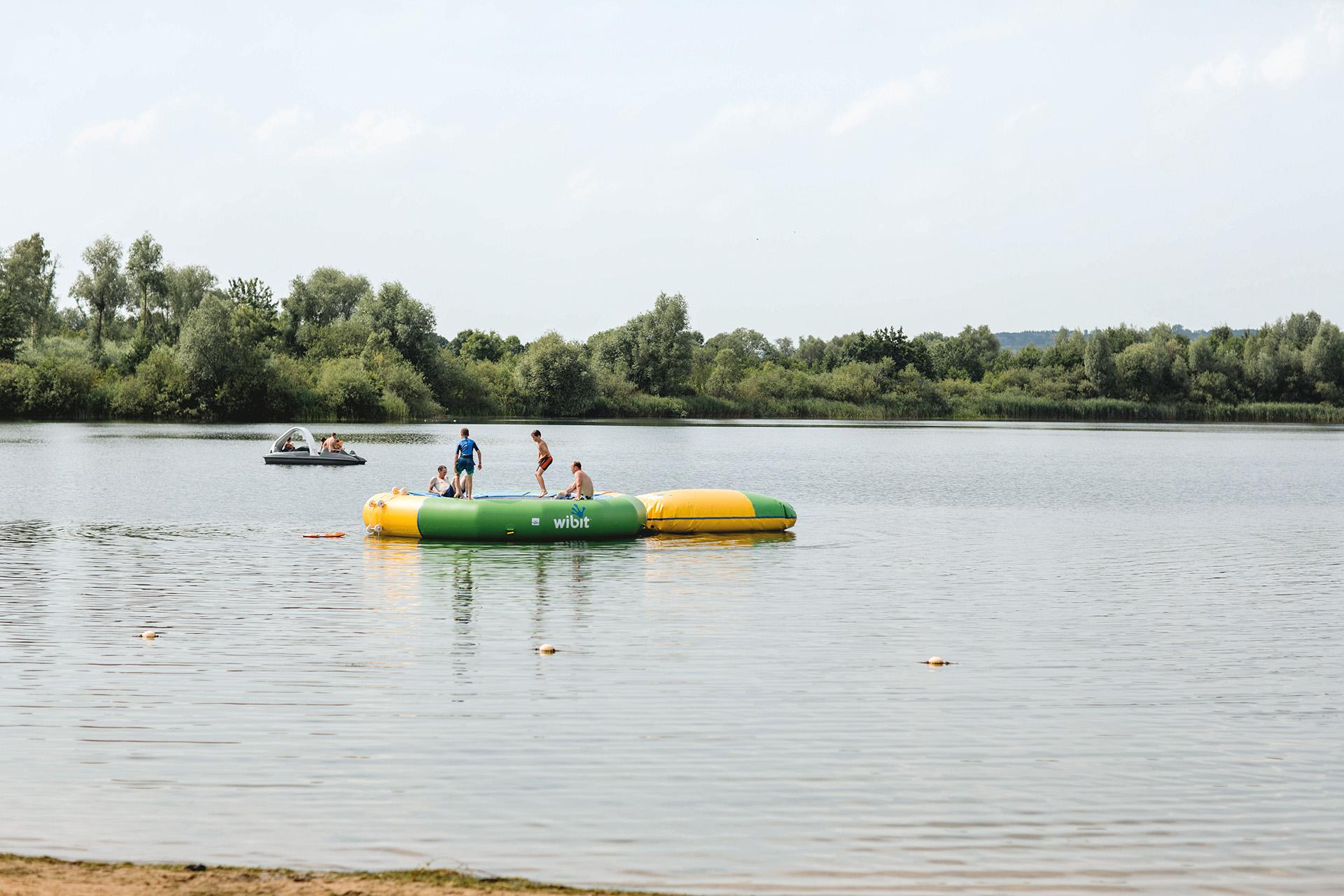 Trampolin, Wasserspielplatz Stemmer See