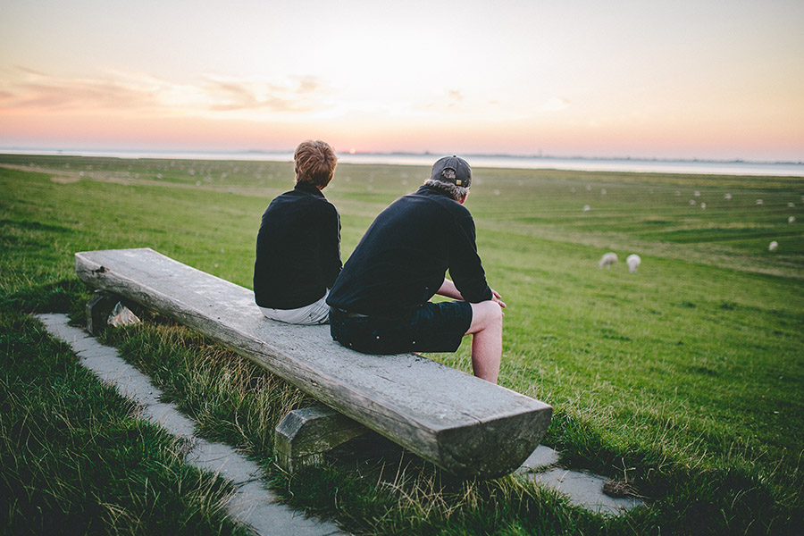 Deich, Nordsee, Nordfriesland, Sonnenuntergang, Nordseecamping zum Seehund