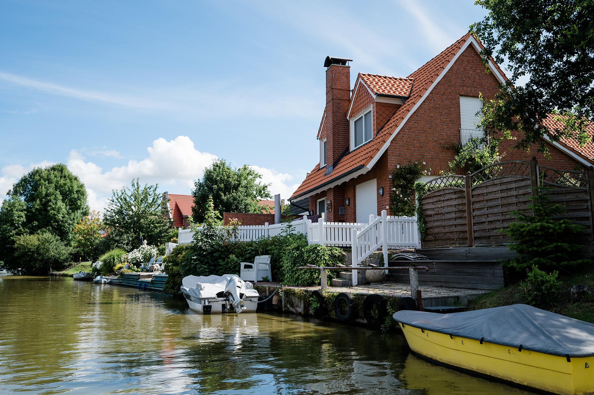 Greetsiel, Kanal-Bootsfahrt