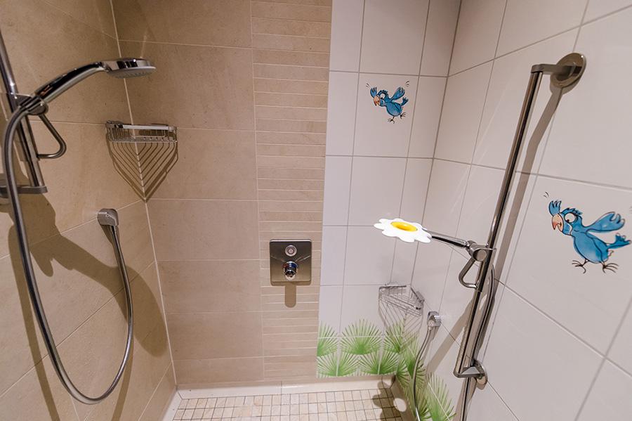 Eltern-Kind-Duschen