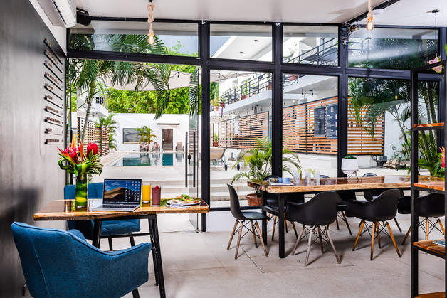 coworking space with a pool