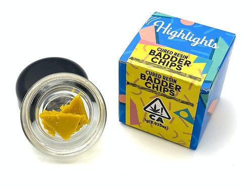 Highlights Cured Resin Badder Chips - Gelonade x Biscotti