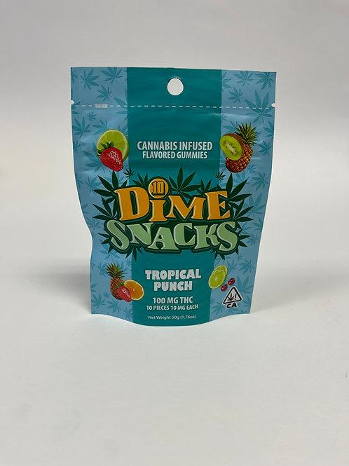 DIME SNACKS Tropical Punch Gummies