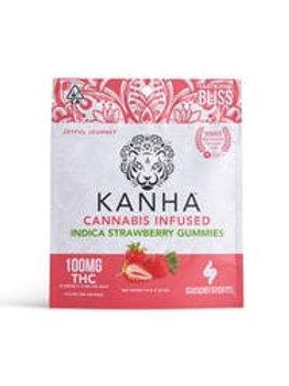 Kanha Indica Strawberry Gummies 100mg