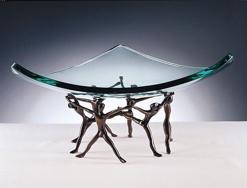 Dance Group Centerpiece Holding Glass