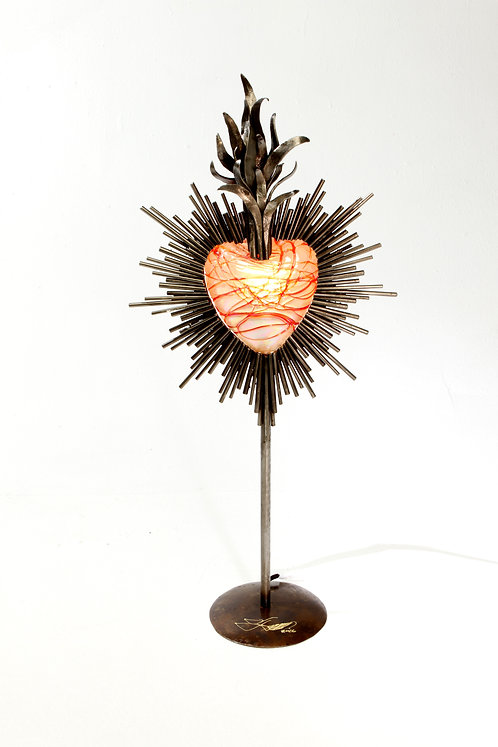 Glowing Heart Sculpture/Lamp