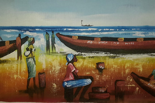 Catch of the Day – Original Canvas Painting