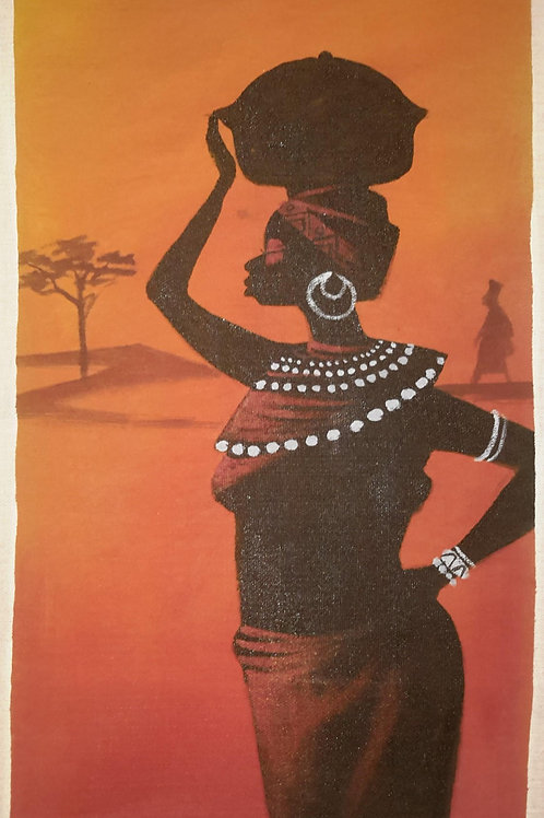 Strong African Women – Original Canvas Painting
