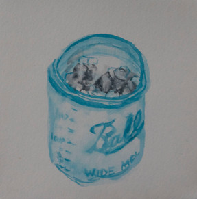 Jar with Paint Tubes