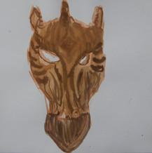 Wooden Giraffe Zebra Mask