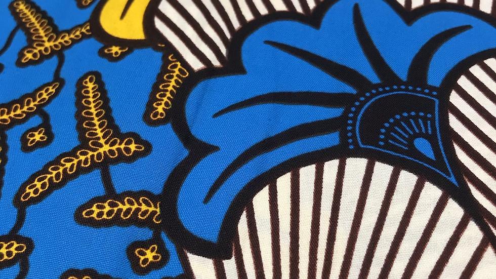 Wax fleurs de mariage bleu et jaune