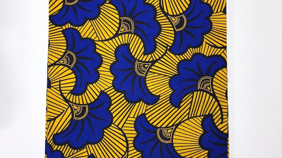 Wax fleurs de mariage jaune & bleu