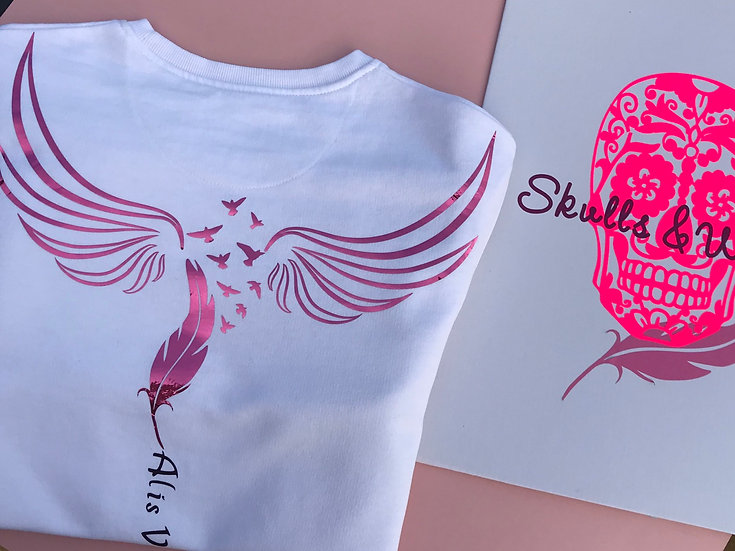 Pink Chrome Wings-T-shirt, or Sweatshirt