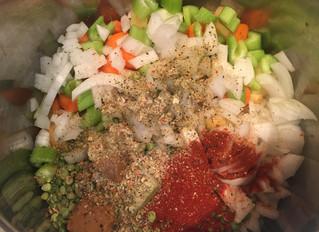 One Pot Pea & Potato Soup