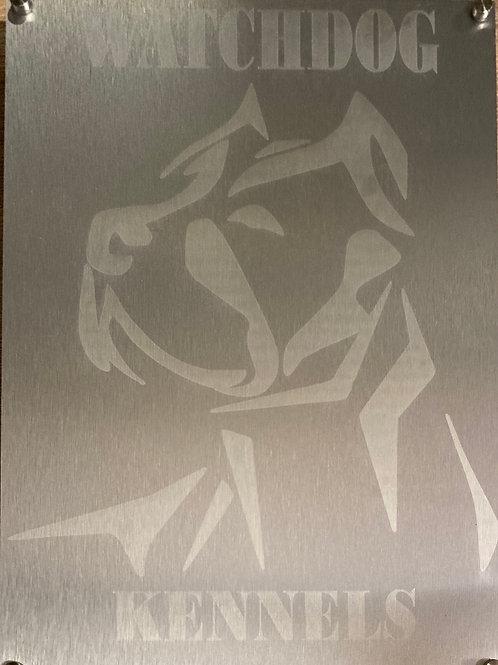 Metal engraved signage