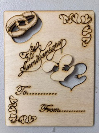 Special Occasion wooden card deals for multiple available