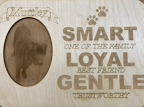 Best Friend wall plaque with engraved photo