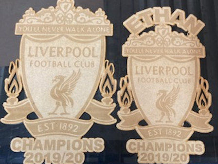 Football plaques with or without names