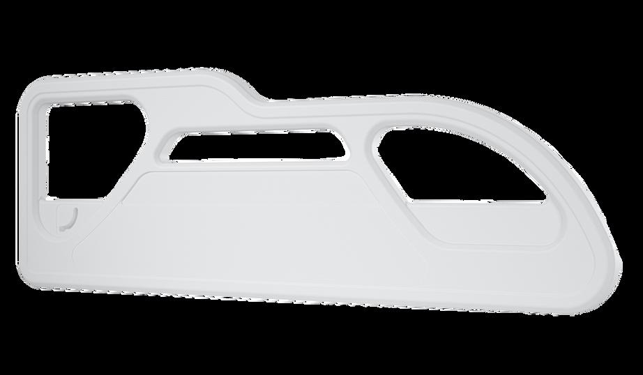 Linha Alfa - Grade lateral dorso compativel com mecanismo deslizante (vista frontal)