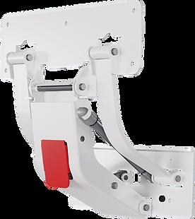 Sistema de acionamento para cama de hospital Tyvs ou mecanismo articulador para grade em plástico de cama hospitalar - compativel com cipla / medparts / fenap