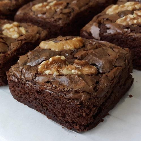 Brownie com e sem nozes