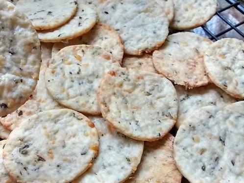 Biscoito de Parmesão e orégano