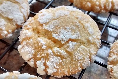Crinkles de Limão Siciliano com amêndoas