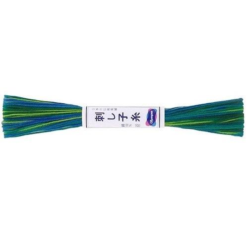 Sashiko thread 20mt variegated forest green st77