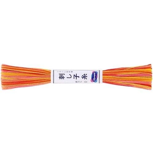 Sashiko thread 20mt variegated orange st75