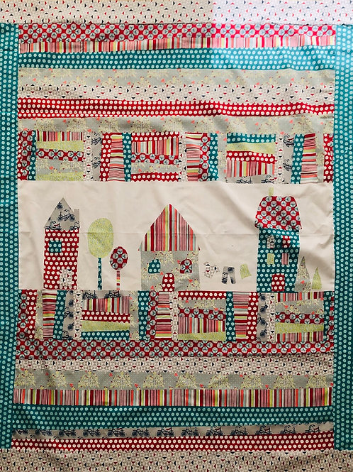 Little houses panel and coordinate kit
