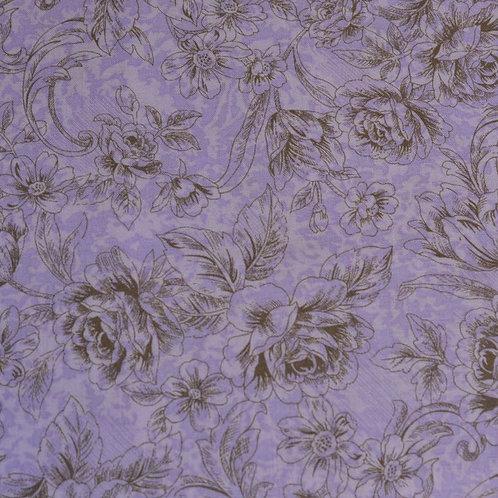 Felicity - purple/ gold floral