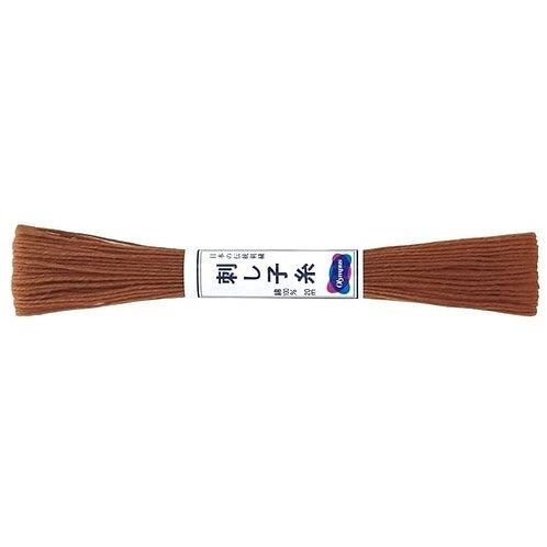 Sashiko thread 20mt brown st3