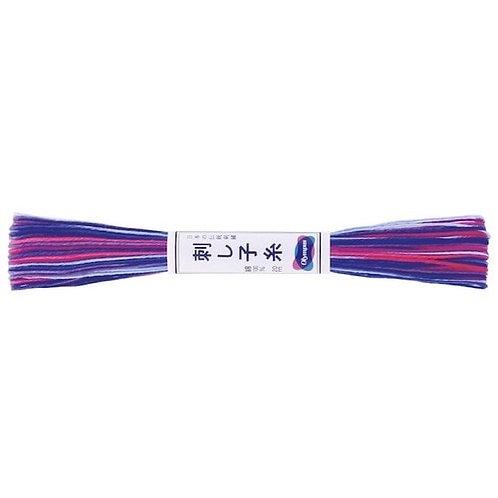 Sashiko thread 20mt variegated purple st76