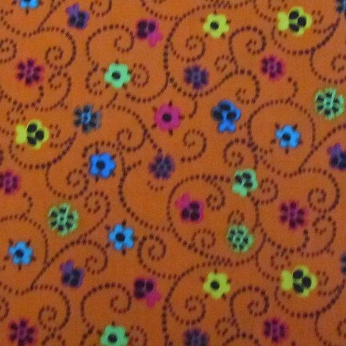 Brights - Floral swirl orange