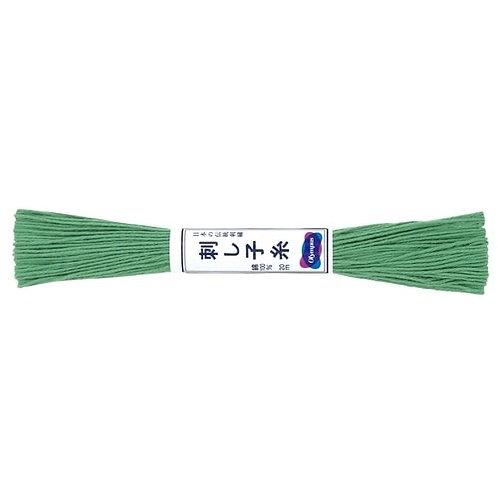 Sashiko thread 20mt green st7