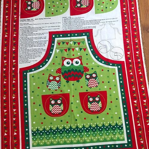 Owl Christmas panels