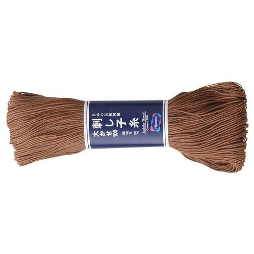 Sashiko thread 100m Earthy Brown st114