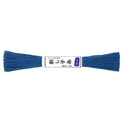 Sashiko thread 20mt blue st10