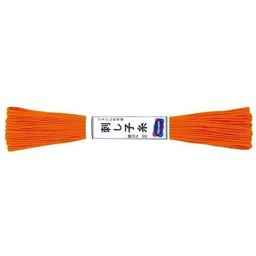 Sashiko thread 20mt bright orange st22