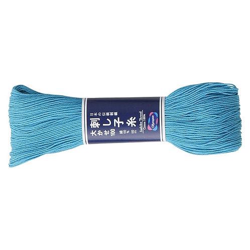 Sashiko thread 100m Aqua blue st112