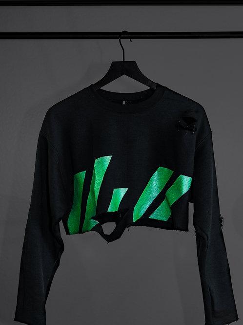 Glitch Crop Sweater