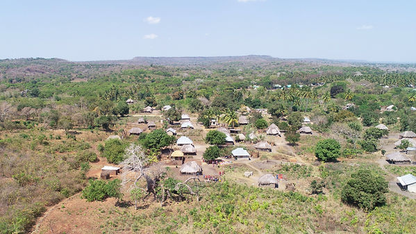 02 A drone shot of the Chekeleni village