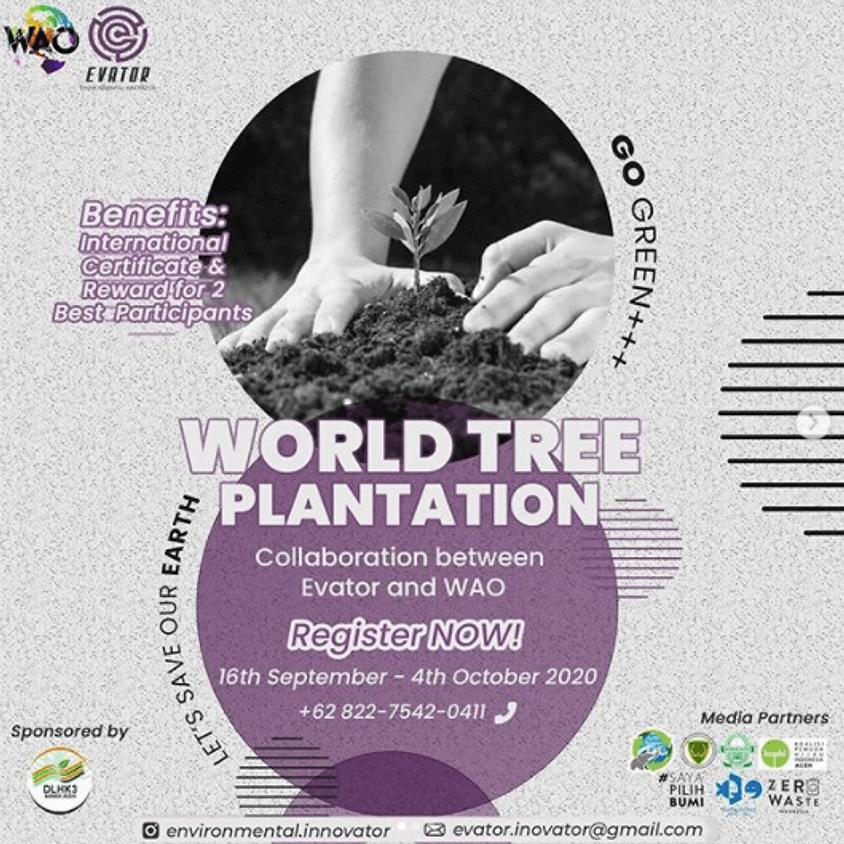 World Tree Plantation (Collaboration between Evator and WAO)