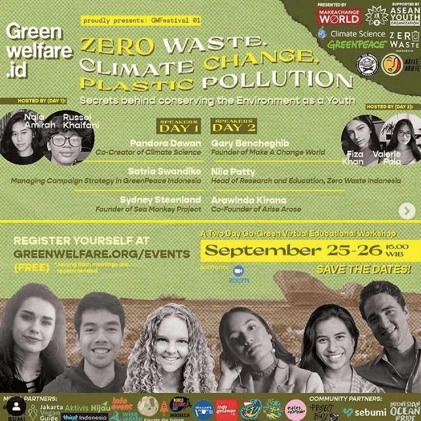 GWFESTIVAL 01 - Zero Waste, Climate Change, Plastic Pollution: The secrets behind conserving the Environment as a Youth