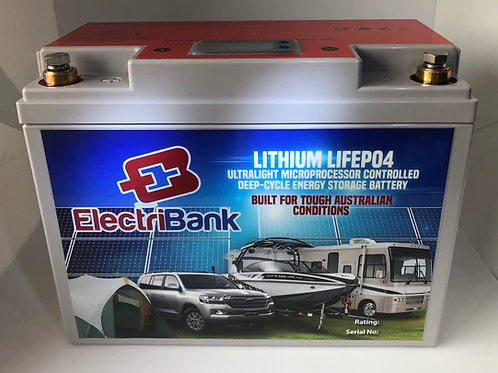 ElectriBank ESS 130Ah Pb Eqv. Deep-cycle LiFePO4 Battery