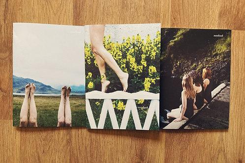 3 Notebooks set / Set de 3 cuadernos